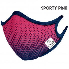 Zitto Mask Washable Mask SPORTY PINK Antimicrobial Protection