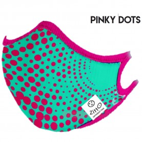 Zitto Mask Washable Mask PINKY DOTS Antimicrobial Protection