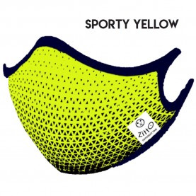 Zitto Mask Washable Mask SPORTY YELLOW Antimicrobial Protection
