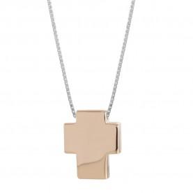 Woman Cross Necklace 18Kt...