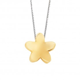 Collar Mujer Flor Oro 18Kt...